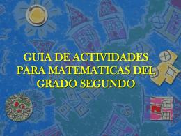 GUIA DE ACTIVIDADES PARA MATEMATICAS DEL GRADO …