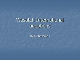 Wasatch International adoptions