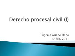 El derecho procesal: - DIPLOMADOS EN DERECHO