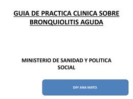 GUIA DE PRACTICA CLINICA SOBRE BRONQUIOLITIS …