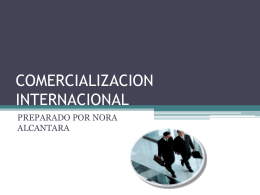 COMERCIALIZACION INTERNACIONAL