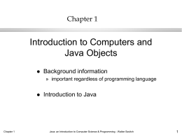 Savitch Java Ch. 1 - Florida Institute of Technology