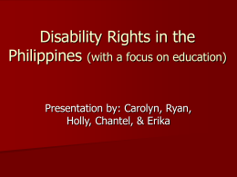 Disability Rights in the Philippines