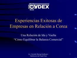 Experiencias Exitosas de Empresas Coreanas en Bolivia