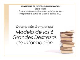 UNIVERSIDAD DE PUERTO RICO EN HUMACAO BIBLIOTECA