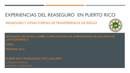 PUERTO RICO International Insurance Center Presentation …