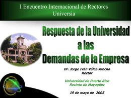 PROPOSAL TO HOST THE 2005 INTERNATIONAL …