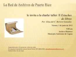 La Red de Archivos de Puerto Rico, ArchiRED