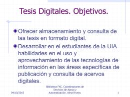 Tesis Digitales Biblioteca FXC