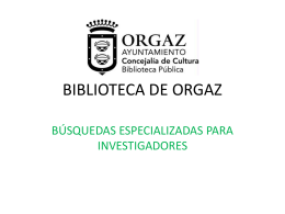 BIBLIOTECA DE ORGAZ