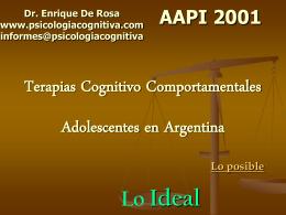 Terapias Cognitivo Comportamentales