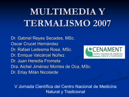 MULTIMEDIA Y TERMALISMO 2007