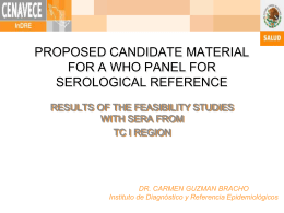 PROPOSED CANDIDATE MATERIAL FOR A WHO …