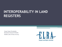 INTEROPERABILITY IN LAND REGISTERS