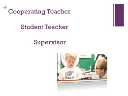 Cooperating Teachers