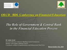 OECD / BDL Conference on Financial Education