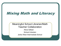 Mathematical Literacy - Jenks Public Schools