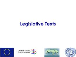 Legislative Texts 1