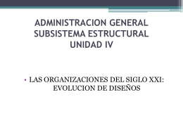 ADMINISTRACION GENERAL SUBSISTEMA ESTRUCTURAL …