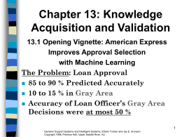 Chapter 13 Knowledge Acquisition and Validation
