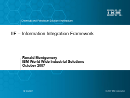 Information Integration Framework for Chemical & …