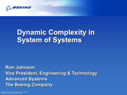 Dynamic Complexity in System of Systems