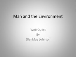 Man and the Environment - Utah Education Network