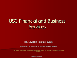 USC Financial and Business Services