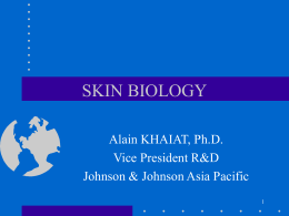 SKIN BIOLOGY - Ministry of Public Health