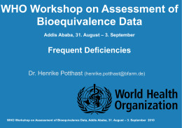 Guidelines - World Health Organization