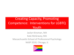 Creating Safe Schools for LGBT Youth in US Schools