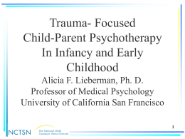 Child-Parent Psychotherapy for Young Children Exposed …