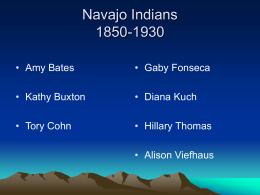 Navajo Indians - California State University, San Bernardino