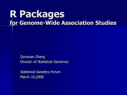 R Packages for Genome-Wide Association Studies