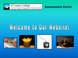 Assessment Center Overview