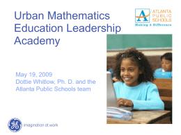 GE – Atlanta Public Schools Professional Development