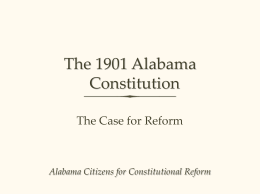 The 1901 Alabama Constitution