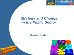 Strategy and Change in the Public Sector