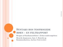 Syntaks og pragmatik