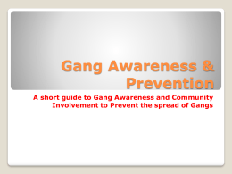 Gang Awareness & Prevention