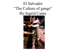 "El Salvador ""The Culture of Gangs"""