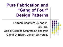 Design patterns - Lehigh University