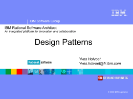 IBM Rational Software Arch v6 Sales Presentation