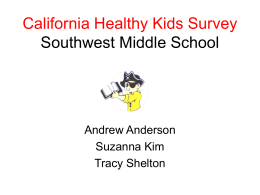 California Healthy Kids Survey Southwest Middle School