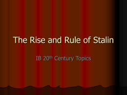 The Rise and Rule of Stalin