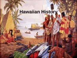 Hawaiian History 1840's-1900