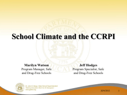 School Climate and the CCRPI