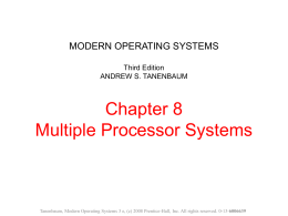 MODERN OPERATING SYSTEMS Third Edition ANDREW …