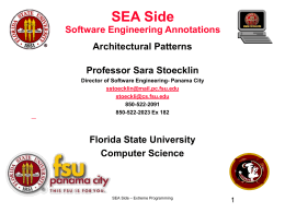 Lecture 8: DSP - Florida State University