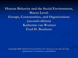 Human Behavior and the Social Enviornoment
